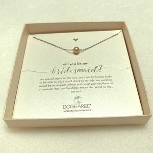 NWOT Dogeared Handcrafted Bridesmaid Necklace